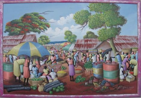 Haitańska sztuka naiwna - Jean Exavier - Na targu