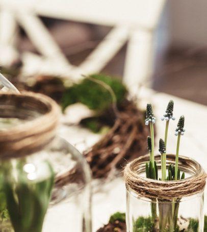 warsztaty florystyczne - słoiki
